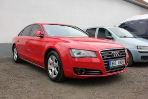 AUDI A8 red gloss