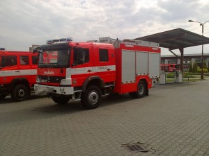 Polep hasičského vozidla