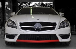 MB AMG White pearl and Red Carbon