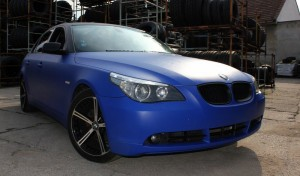 BMW 5 Blue matt
