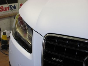 AUDI A5 white matt a black carbon